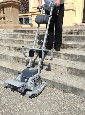 Castle Lustheim: mobile stair climbing device