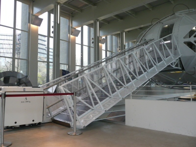 German Museum: stair lift in the nanotechnology department